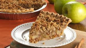 Nothing beats apple crumble pie on a cold winters day.