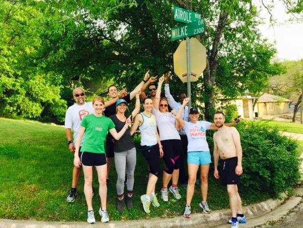"My Tues/Thurs running group (aka ""the party people"")"