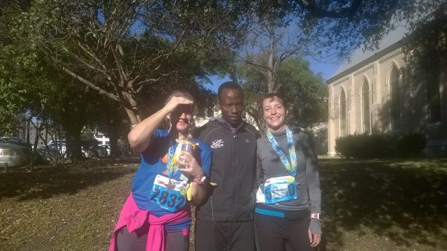 Me, Gilbert, and my running BFF Karen