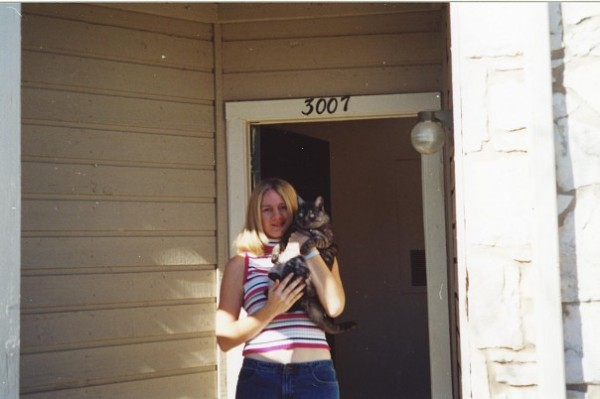 Giz and I in our first apartment in San Antonio. A point in our lives I will never forget.